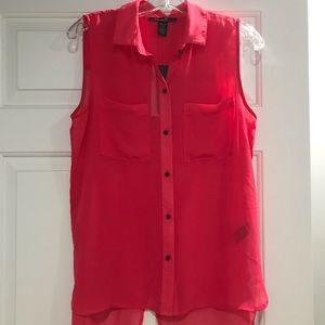 Kenneth Cole Hot Pink Krissy Blouse